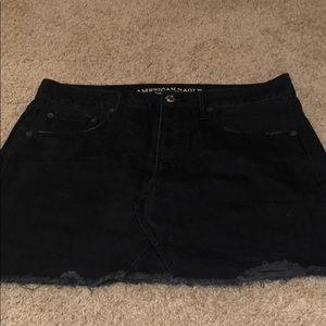 American Eagle black jean mini skirt